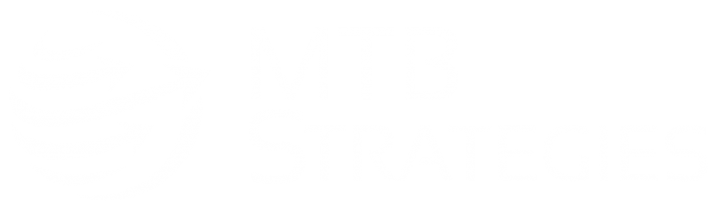 mtb strategies in all white logo