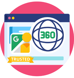 360 photography service icon