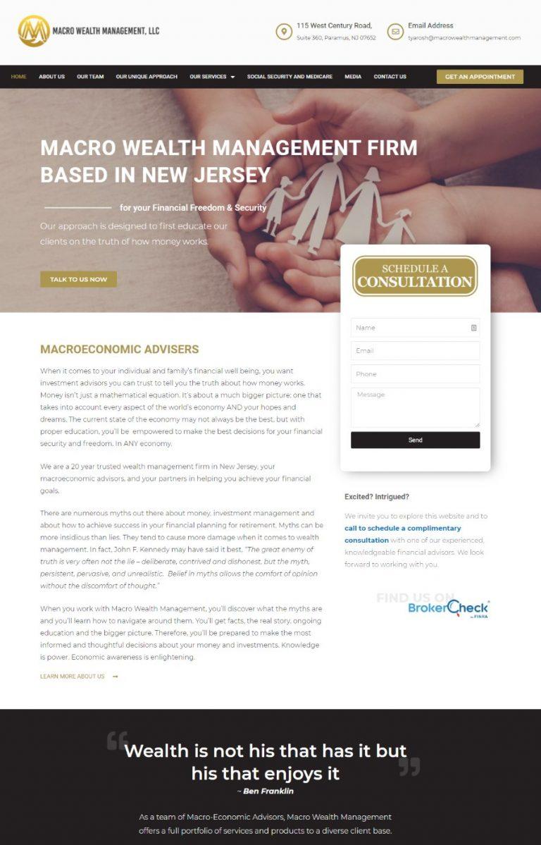 macro wealth management website by mtb strategies
